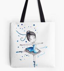 La petite danseuse classique bleue Tote Bag
