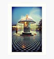 The 2007 Bonnaroo Fountain Art Print