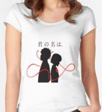 Your Name - Kimi no na wa - Taki and Mitsuha Women's Fitted Scoop T-Shirt