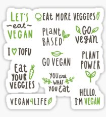 Vegan set Sticker