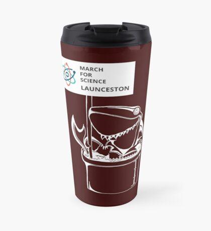 March for Science Launceston – Shark, white Travel Mug