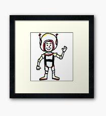 H Astronaut Framed Print