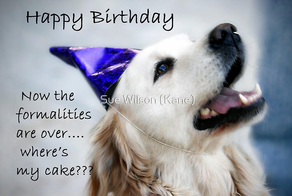 Happy Birthday by Sue Wilson (Kane)
