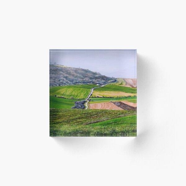 On the slopes of Cissbury Ring Acrylic Block