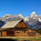 Old Barn in Mormon Row, Wyoming by Charles Kosina