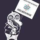 March for Science Canberra – Melbourne, white by sciencemarchau