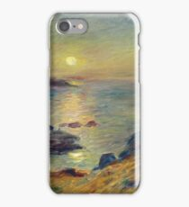 Auguste Renoir - Sunset At Douarnenez, 1883 iPhone Case/Skin