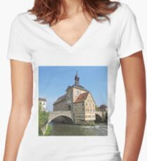 Altes Rathaus, Bamberg, Germany Women's Fitted V-Neck T-Shirt