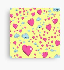 Koalas with love seamless vector pattern Canvas Print