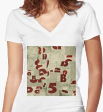 Abstract pattern 50 Women's Fitted V-Neck T-Shirt