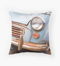 Rusty Morris Minor Car Throw Pillow