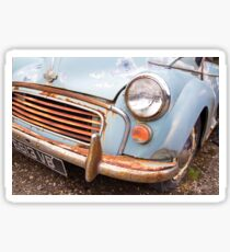 Rusty Morris Minor Car Sticker