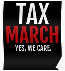 tax march Poster