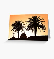Mission Sunset Greeting Card
