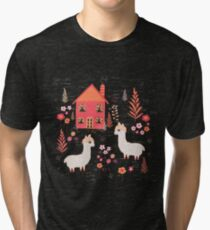 Mountain Chalet Alpacas Tri-blend T-Shirt