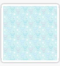 Fennec Fox Flowery Fun Sticker