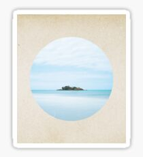 Island dreams - porthole paper design Sticker