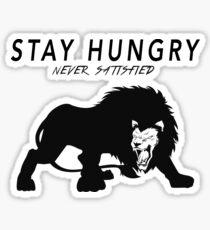 stay hungry Sticker