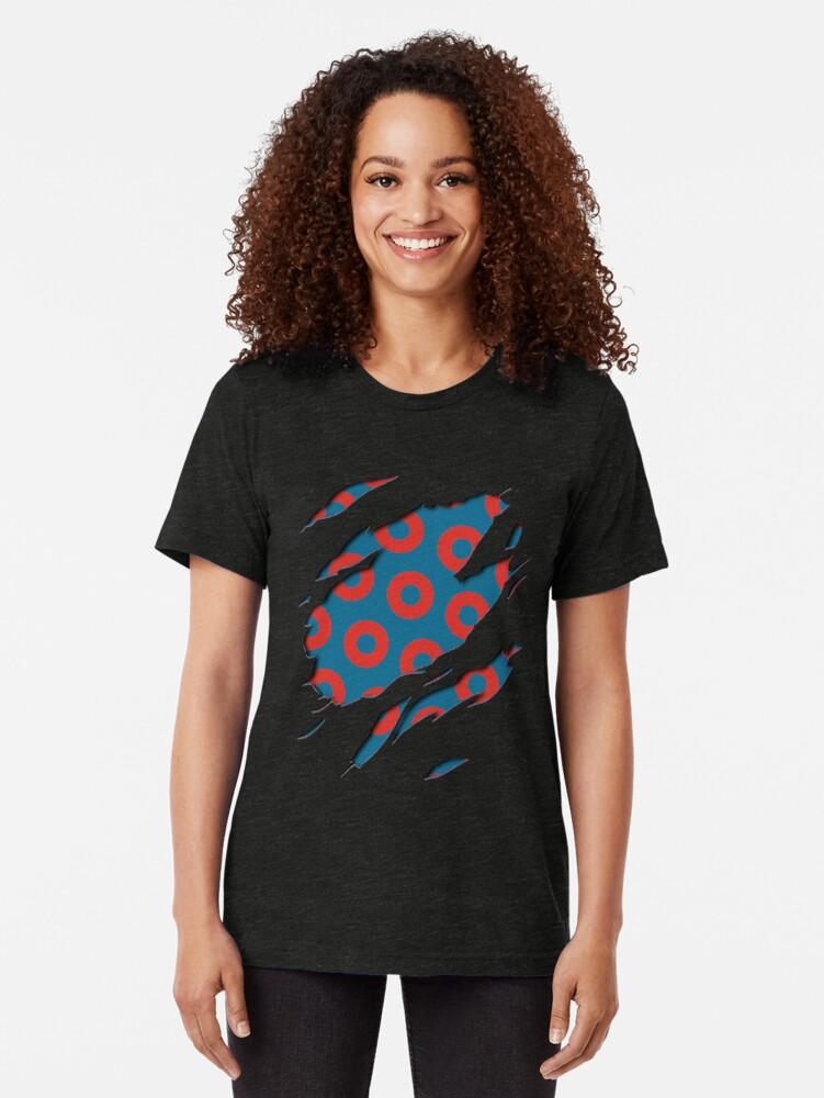 Alternate view of Fishman Donuts - Phish Tri-blend T-Shirt