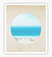 Classic seaside - porthole paper design Sticker