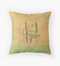 Monotype with Asian Influence Throw Pillow