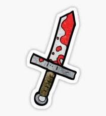 cartoon bloody sword Sticker