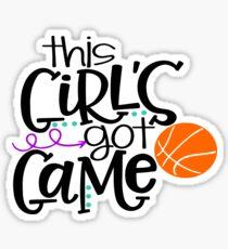 Pegatina Este juego de chicas: baloncesto