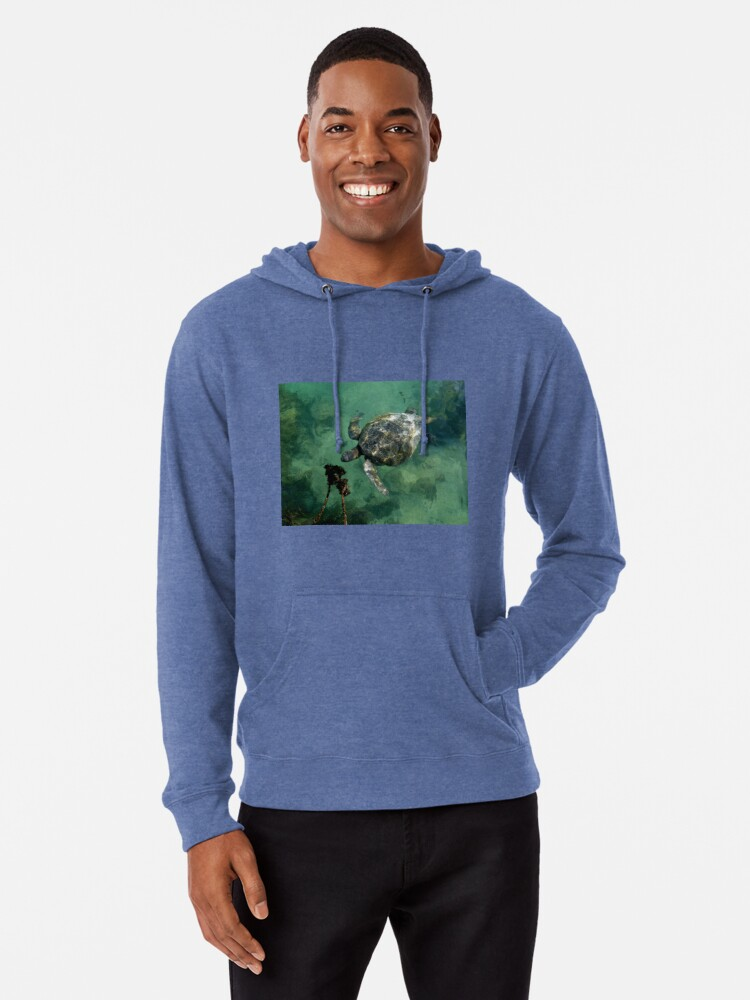 Pacific Beach Sea Turtle Adult Cotton Long Sleeve T-shirt