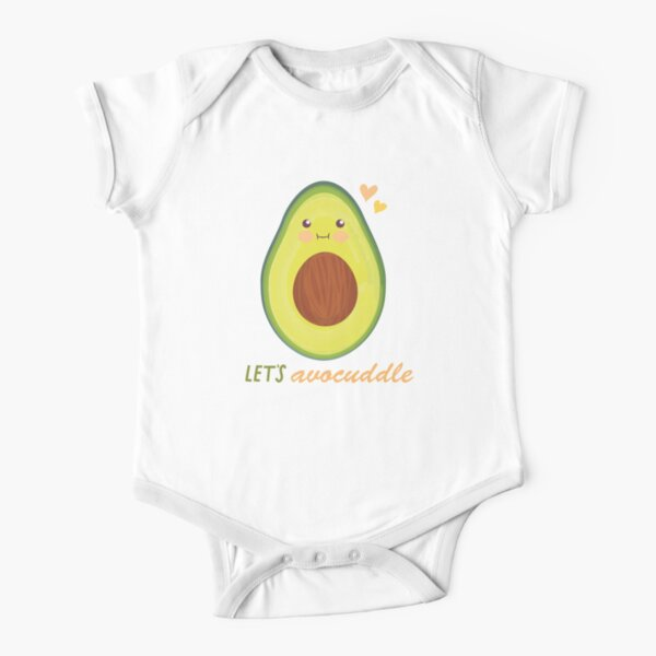 Let's Avocuddle Short Sleeve Baby One-Piece