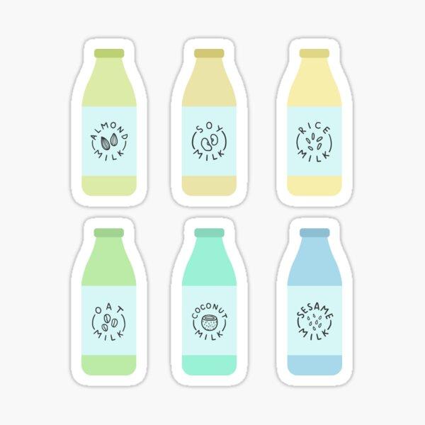 Different plant milk types Sticker