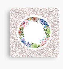 Ornamental Floral Decoration Canvas Print