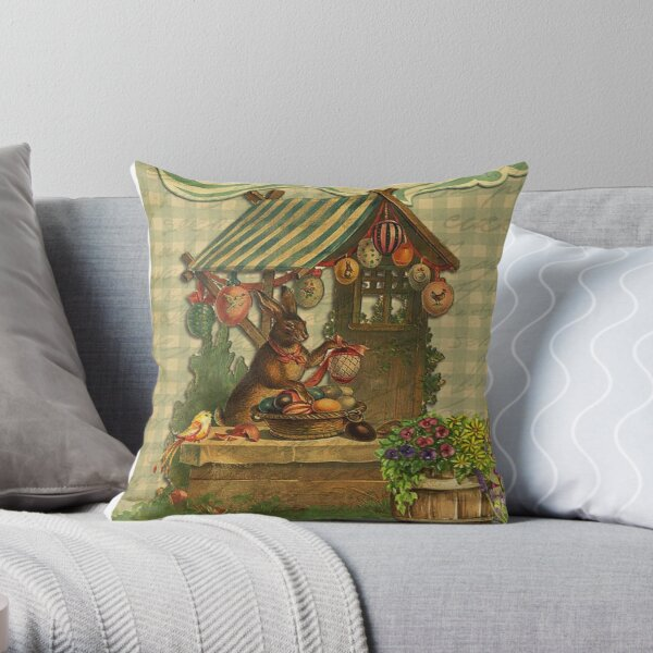 Vintage Easter  Throw Pillow