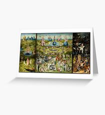 The Garden of Earthly Delights -  Hieronymus Bosch Greeting Card
