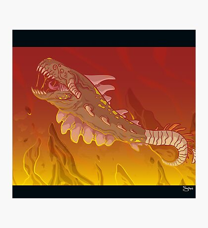 Plasma Dragon Photographic Print