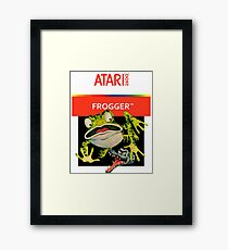 Atari 2600 - Frogger (Transparent)  Framed Print