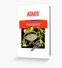 Atari 2600 - Frogger (Transparent)  Greeting Card