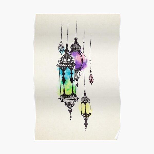Moroccan Lanterns Poster