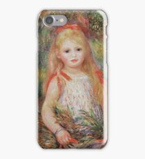 Auguste Renoir - Little Girl Carrying Flowers, Or The Little Gleaner iPhone Case/Skin