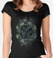 Camiseta entallada de cuello redondo Geometría Sagrada para tu vida diaria