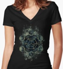 Sacred Geometry for your daily life Women's Fitted V-Neck T-Shirt