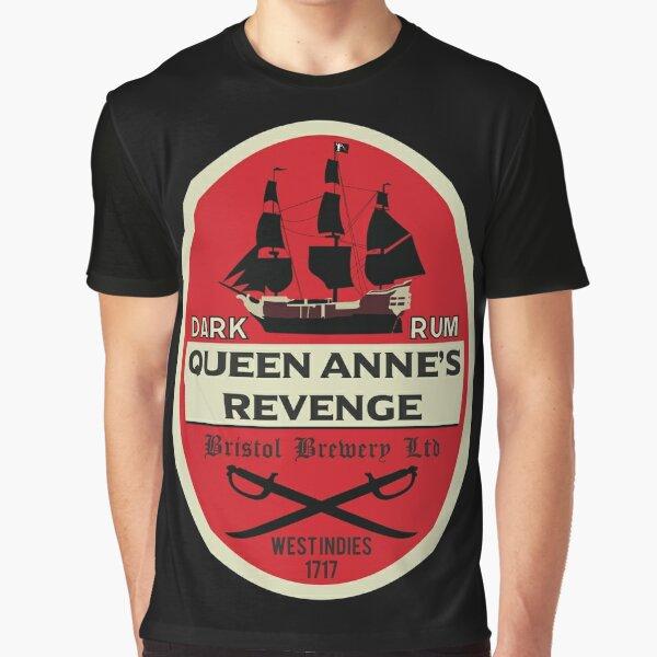 Königin Anne's Revenge Dark Rum Grafik T-Shirt