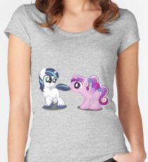 Filly Shining Armor and Princess Cadence Women's Fitted Scoop T-Shirt