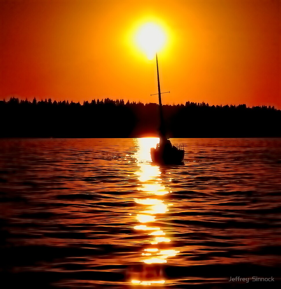 a great day to sail away your cares by Jeffrey  Sinnock