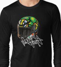 Valentino Rossi helmet, moto gp Long Sleeve T-Shirt