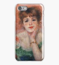 Auguste Renoir - Jeanne Samary (Also Known As La Reverie), 1877 iPhone Case/Skin