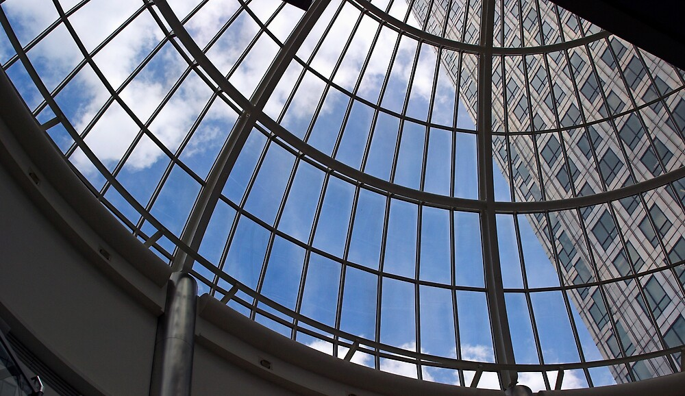 Skyscraper  through Domed Roof by kitlew