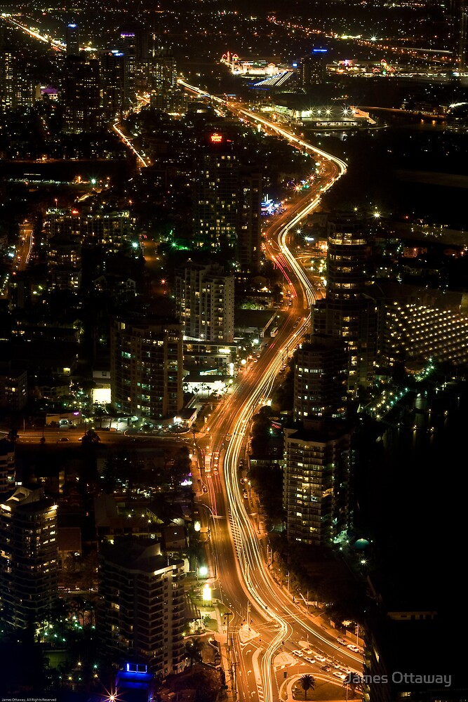 The Bright Night Lights by James Ottaway