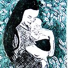 "Etching Chine Colle by Belinda ""BillyLee"" NYE (Printmaker)"