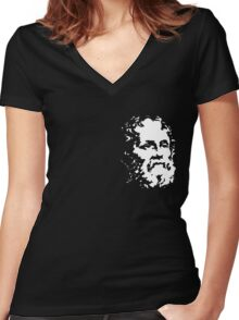 sw3 zip Women's Fitted V-Neck T-Shirt