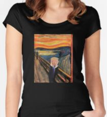 Trump in a famous art piece  Women's Fitted Scoop T-Shirt